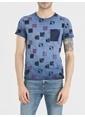 Loft Desenli T-Shirt Lacivert